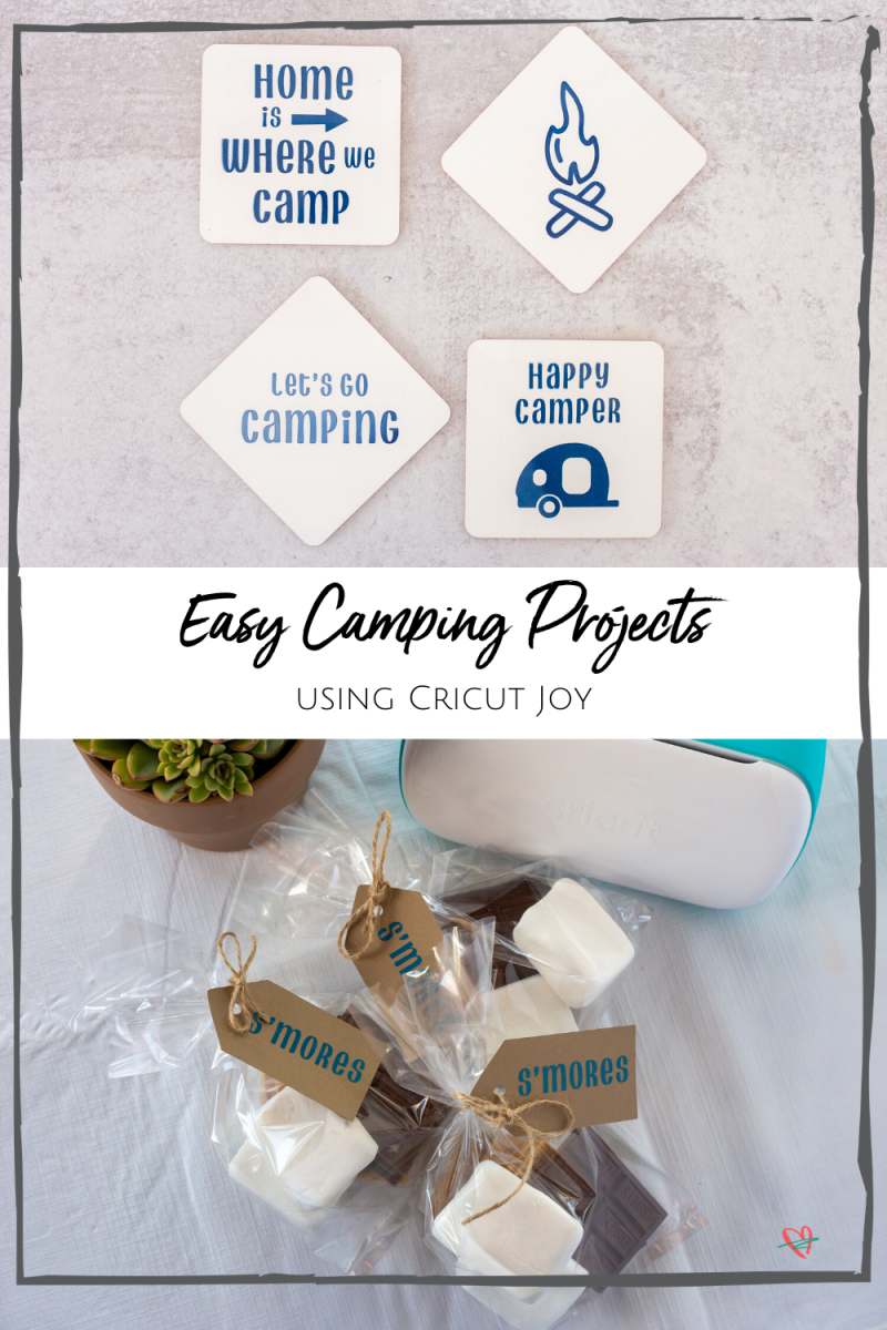 AD: Bored? Make these 3 easy camping projects with your Cricut Joy. These are perfect for making by yourself, or with the kids, and each of these projects takes just 15 min! #cricutcreated #cricutjoy @officialCricut